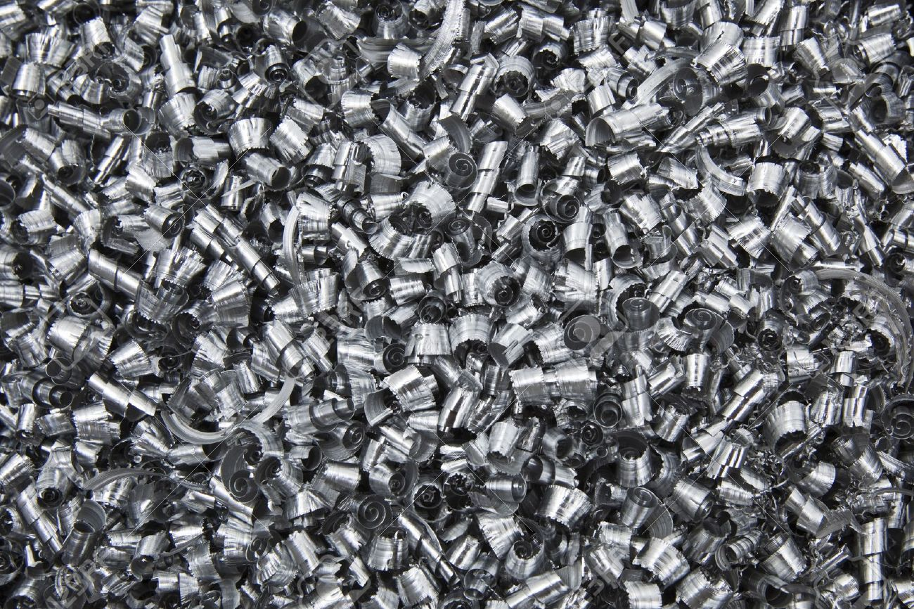 7493765 Close up of scrap metal chips Stock Photo recycling